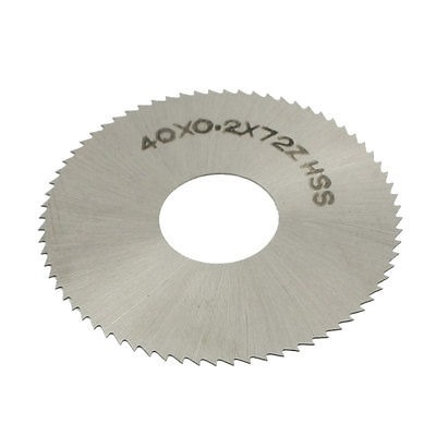 Free-Shipping-HSS-72-Teeth-40mm-x-0-2mm-x-13mm-Circular-Slitting-Saw-Blade-Cutter