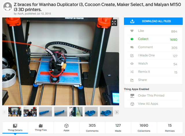 Z_braces_for_Wanhao_Duplicator_i3__Cocoon_Create__Maker_Select__and_Malyan_M150_i3_3D_printers__by_AzzA_-_Thingiverse