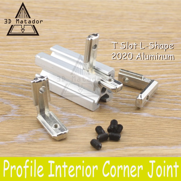 3D-Printer-20pcs-2020-Aluminum-profile-with-screws-T-Slot-L-Shape-2020-Aluminum-Profile-Interior