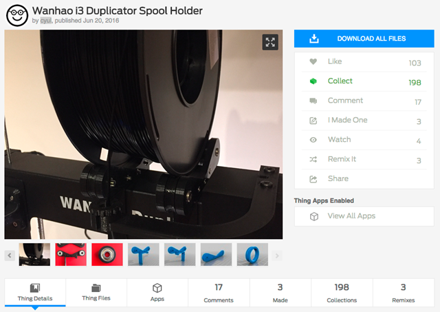 Wanhao_i3_Duplicator_Spool_Holder_by_cyul_-_Thingiverse