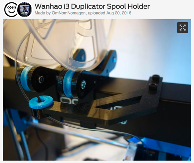 Wanhao_i3_Duplicator_Spool_Holder_by_OmNomNomagon