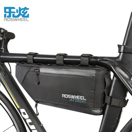 ROSWHEEL-ATTACK-2017-100-Waterproof-Bicycle-Bag-Bike-Accessories-Storage-Front-Frame-Tube-Triangle-Bag-Cycling