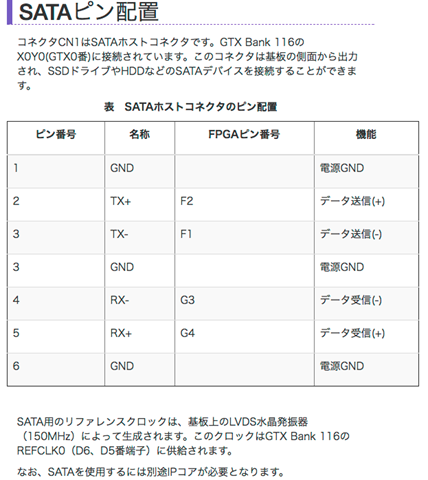 SATAピン配置___特殊電子回路